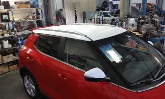 covering toit et retro carbone blanc