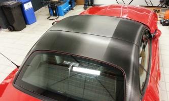 toit covering carbone noir